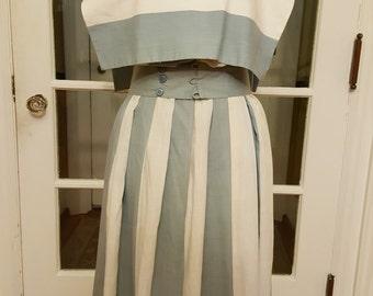 Vintage Blue & White Stripes Dress