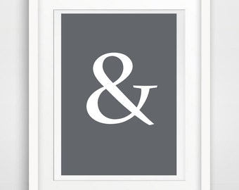 Printable art & -  And print - Symbol -  digital prints - nursery printable - instant download - modern print - wall prints