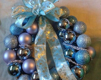 Lavender and Blue Wreath