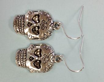 Mexican Sugar Skull earrings, Sugar Skull Earrings