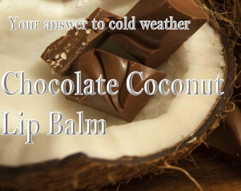 Organic Chocolate Coconut Lip Balm