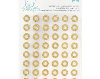 Memory Planner Glitter Hole Reinforcement Stickers