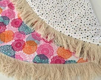 Round padded play mat - Baby Playmat, Tummy time, newborn, baby shower gift, change mat