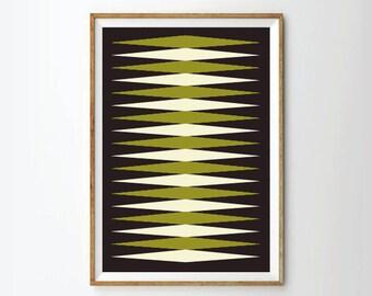 Mid century art print poster, retro art print poster, geometric art print poster, poster, posters, art print, prints