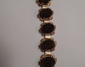 Fabulous 1950's Bracelet with Very Unusual Glass Stones