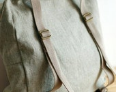 Custom listing for Brittany - Diaper nappy backpack in natural and grey linen, hand embroidered horse design