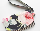 Phone Wallet Wristlet | Journal Pouch with Zip Pocket | Smartphone Wristlet | Padded Pouch with Zip Pocket | Phone Pouch with Zipper Pocket