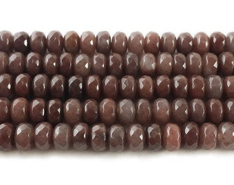 Purple Aventurine Faceted Rondelle Gemstone Beads