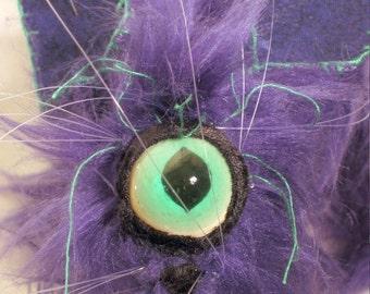 Custom Soft Sculpture Magic Hex Cat Plush or Velour Cat