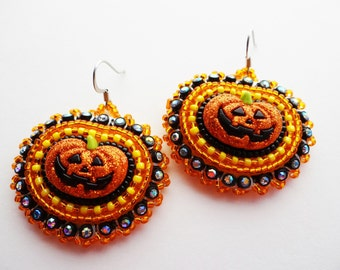 Jack O'lantern Earrings Halloween Pumpkins