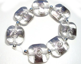 Handmade Glass Lampwork Beads Palladium Dazzlers