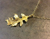 Handforged 18k Gold Oak Leaf Pendant  (charm only, no chain)