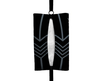 Auto Sneeze - Arrows - Visor Tissue Case/Cozy - Car Accessory Automobile Black Dark Grey