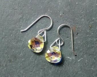 Crystal Drop Sterling Earrings