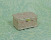 Dollhouse Miniature Pink Floral Train/Travel Case