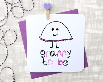 grandmother to be card, from the bump card, grandma to be, granny to be, meemaw to be, new baby card, uk, parsy card co