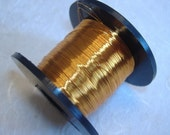 Rich Gold colour British Craft Wire 0.2mm 175m long