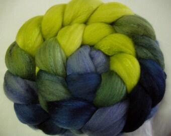 Merino silk spinning fiber, felting wool, super soft, 50/50 blend, hand painted, nuno felting wool, wet/needle felting wool, 100g/3.5oz