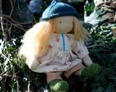 Rowan, a little jenny wren play doll