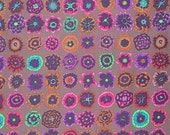 BUTTON FLOWERS in PRUNE 1/2 yard of PWGP152 / Kaffe Collective Fall 2015  / Westminster Fabric / Cotton, Quilt Craft and Apparel fabric