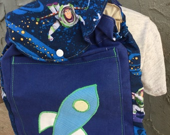 Toddler Sized Backpack -- BUZZ LIGHTYEAR SPACESHIP