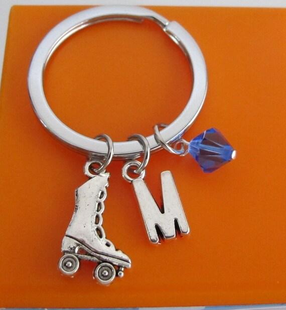 Roller Skate Keychain, Custom Keychain, Custom Key Ring, Roller Skate Pendant, Roller Skate Charm
