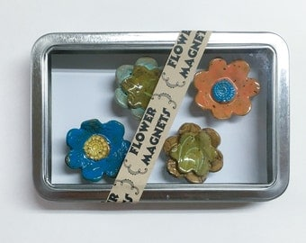 Bright Flower Magnets
