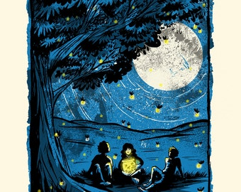 Summer Nights - Screenprinted Art Print