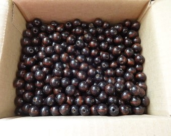 US Shipper - Round or Rondelle Wood Beads - 14 MM - Coffee or Brown Color - 1 to 75 - Wooden
