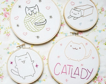 Holiday Cats Bundle • Over 40 Embroidery Patterns