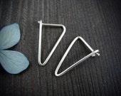 simple geometry ... sterling silver earrings