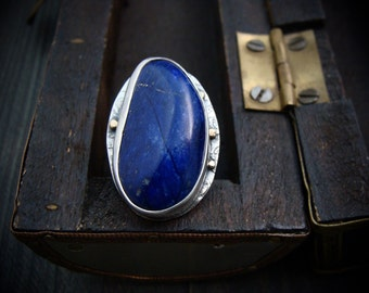 the ancients … lapis cocktail ring