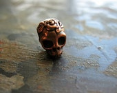 Antiqued Copper Plated Skull Bead
