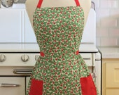 Apron Christmas Hollies - CLASSIC