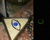Evil Eye (ayin ha-ra) Protection Pendant - Glow-in-the-Dark - Amulet Boho Chic Jewelry Talisman Jewish
