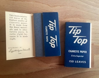 Individual Tip Top cigarette rolling papers wartime Liggett & Meyers Tobacco Company