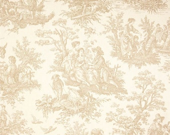Waverly Country Life Linen Toile Home Decorating Fabric BTY