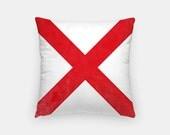 "Valentine Gift- Nautical Decor- Nautical Flag Pillow- 16"" x 16"" Throw Pillow- Nautical Alphabet Letter V Nautical Pillow- Decorative Pillows"