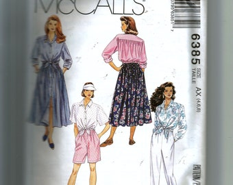 McCall's Misses' Shirt, Skirt,Pants and Shorts Pattern 6385