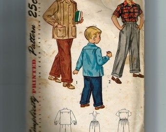 Simplicity Boys' Slacks and Shirt Pattern 2969