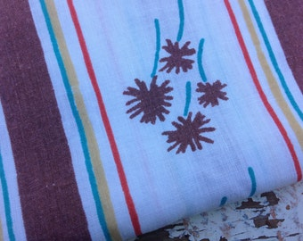 Vintage Floral Fabric-  Reclaimed Vintage Bed Linens Fabric