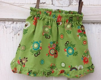 40% OFF FLASH SALE- Floral Jersey Skirt-Wee Ones Eco Friendly Reclaimed Fabrics-Infant