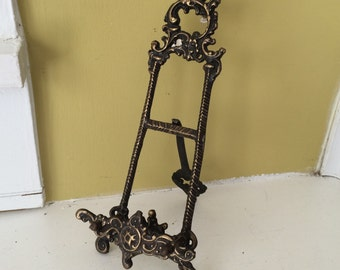 Ornate Antique Metal Easel