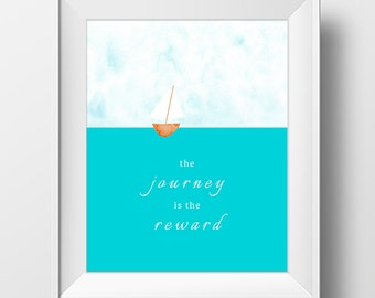 Printable Digital Sailboat Sailing Art Print Quote Inspirational Inspiration Motivational Digital Download