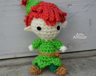 Peter Pan doll amigurumi plush