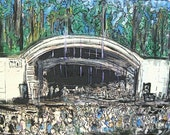 "Greenfield Lake Amphitheatre  ""16x10 mounted ready to hang print with black trim"