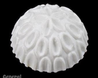 20mm White Patterned Round Cabochon (8 Pcs) #3933