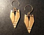 Infinite Cocoon earrings in Dark Horse/ Spirit Spine/ SM/ bronze