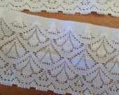 2-1/8 inch WHITE Stretch Lingerie LACE Silicone Gripper, Sold by the Yard