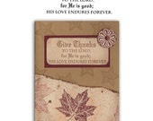 GIVE THANKS to the LORD unmounted rubber stamp, Christian bible verse No.6